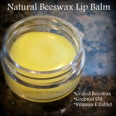 She uses beeswax to make a natural lip balm in minutes. It really couldn't be easier - only 3 ingredients! Check it out, y'all. uses beeswax to make a natural lip balm in minutes. It really couldn't be easier - only 3 ingredients! Check it out, y'all. Bees Wax Lip Balm, Diy Lip Balm, Natural Lip Balm, Natural Skin Care, Vitamin E Tablets, Beeswax Recipes, Natural Beauty Tips, Diy Beauty, Beauty Stuff