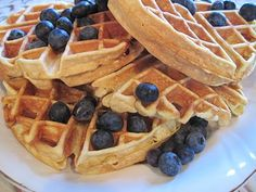 Mad Hungry: Sour Cream Waffles  This is my year for discovering waffles.  Our waffle maker was a gift for my husband as I was convinced I simply could not make them.  One look at a recipe and I'd automatically think I couldn't do it.. why does batter need to rest anyway?  It seemed too complicated.. until I tried it.  Boy, was I wrong.    Waffles are so easy!  I'm exploring lots of recipes and this is one I really like to make.  You'll get about 5 waffles from the batter.  I place them in a…
