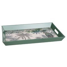 Green tropical print tray from Maisons du Monde. Perfect for my coffee table.