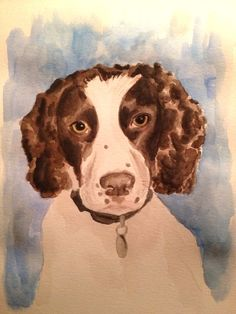 October 7.  Rudy. Watercolor and pen on paper.