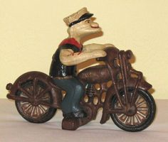 Popeye on Motorcycle