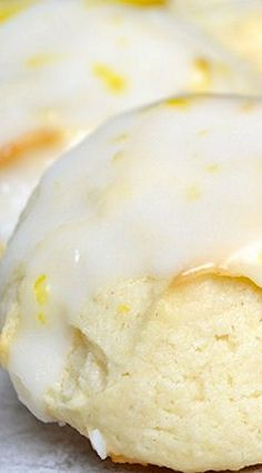 Lemon Cream Cheese Cookies. Similar to the Italian cookies my mom makes at Christmas.