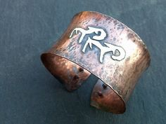 Pazyryk Stags  Copper and sterling silver cuff/bangle by EarthenMe, £38.00