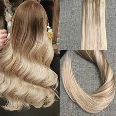 34.95$  Know more  - Full Shine Tape in Hair Extensions Ombre Color #10 Fading to #18 Ash Blonde and #24 Skin Weft Brazilian Human Hair Extensions