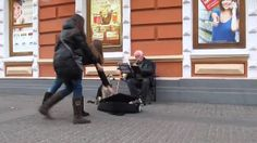 Stray Dog Helps Street Musician in Ukraine Like our dog Skipper who would sing also when we played and sang growing up <3