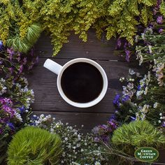 Here's to warmer weather, sunshine, and a fresh cup of Green Mountain Coffee!
