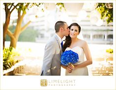 #Wedding #Day #Westin #HarbourIsland #Tampa #FL #Ideas #Limelight #Photography #beachwedding #bride #groom #kiss #flowers #ceremony