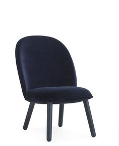 Ace lounge chair in velour