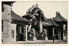 Berliner Zoo Elefantentor. Berlin, um 1900. o.p.