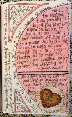 """To thine own self be true"". A page from an art journal."