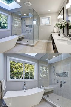 Searching For Gray Bathroom ideas? Read this and surf Gray Bathroom and Small Bathroom images/photos for design, layout, furniture, vanity/ repainted cabinets, floor, tile, and storage inspiration with incredible design styles from farmhouse to modern-day interior #bathroom #smallbathroom #graybathroomideas Best Bathroom Paint Colors, Bathroom Color Schemes, Grey Bathrooms, Small Bathroom, Master Bathroom, Bathroom Photos, Bathroom Ideas, Bright Color Schemes, Modern Farmhouse Bathroom