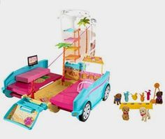 Barbie Ultimate Puppy Mobile Vehicle: Toys Amazon http://amzn.to/2ejvdN3