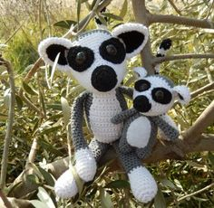 Amigurumi Mama and Baby Lemur - FREE Crochet Pattern / Tutorial