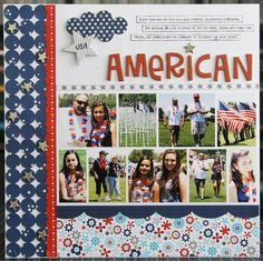 #papercraft #scrapbook #layout All American from Bella Blvd - Scrapbook.com