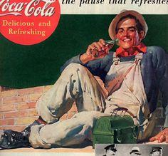 antique coca cola workman 1937