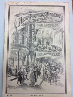Playbill the Powers Theatre - 1904 - Part of the Civic Theatre collection