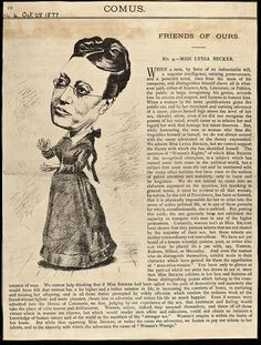 Lydia Becker in Comus journal, 1877.