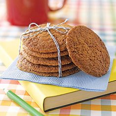 Gingersnaps from MyRecipes.com (less than $1 per gift!)