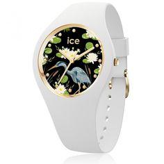 Ice-Watch Ice Flower Waterlily Medium Women's Watch 016666 – Time Machine Plus Ice Watch, Mvmt Watches, Sport Watches, Bracelet Silicone, Hand Watch, Beautiful Watches, Watch Sale, Watches Online, Designer Earrings