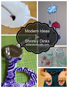 When you picture Shrinky Dinks, do you remember the cheesy kid crafts that you did in the Shrinky Dink crafts have come a long way, baby! Check out these totally modern Shrinky Dink ideas! Diy Projects To Try, Crafts To Do, Easy Crafts, Crafts For Kids, Craft Projects, Craft Ideas, Decor Ideas, Shrinky Dinks, Shrink Plastic Jewelry