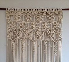 Superb look + Home Decorative Modern Macrame CURTAIN (Knotted Rope, Wall Art)AA