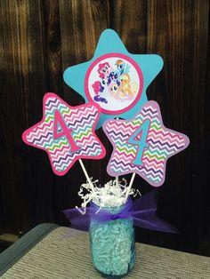 My Little Pony Centerpiece   My Lil Pony Birthday Decorations on Etsy, $8.00:
