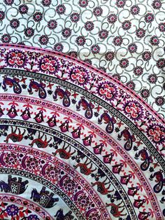 Boho Tapestry - Pink/White Elephant