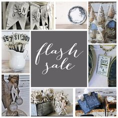 It's a Flash Sale!! Hogg Barn Antiques wants to thank all of our Amazing followers!! The ENTIRE SHOP is on sale!! Come by and see us on Etsy! www.HoggBarnAntiques.etsy.com