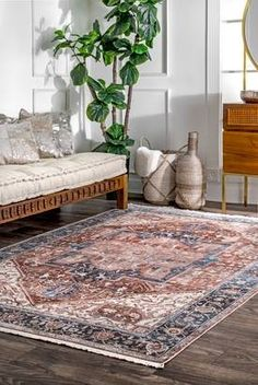Room Rugs, Area Rugs, Meditation Room Decor, Farmhouse Living Room Furniture, Rugs Usa, Buy Rugs, Contemporary Rugs, Rugs In Living Room, Brown Sofa