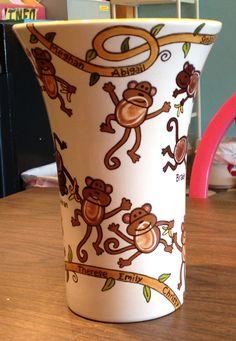 Teacher's gift from her students! All her students fingerprints turned into monkeys