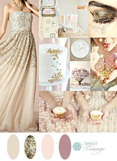 Gold Sparkle Wedding Moodboard I Details, ideas, color scheme