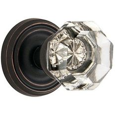 Emtek Old Town Clear knob w/Regular Rose Oil Rubbed Bronze (US10B)