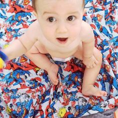Levi's new Levi & Evelyn Man of Steel reversible minky blanket. Loves his #superman! Happy Boxing Day present our lil #superbaby xoxo  Available at www.leviandevelyn.com.au  #leviandevelyn #leviandevelynlove #blanket #baby #boy