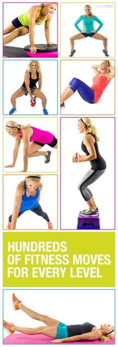 Check out Skinny Mom's Fitness Index for hundreds of fitness moves for every fitness level!