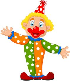 Illustration of Cute clown cartoon vector art, clipart and stock vectors. Art Drawings For Kids, Cartoon Drawings, Art For Kids, Clown Mignon, Clown Crafts, Clown Party, Cute Clown, Send In The Clowns, Image Clipart