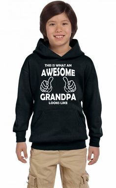 this is what an awesome grandpa looks likewhite Youth Hoodie