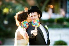 Vintage Carnival Wedding theme.  Swirly lollipops are a must!