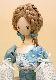 cloth doll pattern inspired by Barbie proportions
