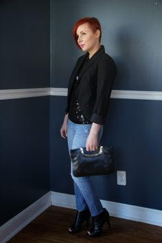 Thrift and Shout  Cute Outfit of the Day  Denim on Denim  Old Navy     Thrift and Shout  Cute Outfit of the Day  Denim on Denim  Old Navy denim  jacket  Converse One Star for Target jeans  asym      Thrift and Shout  The  Blog