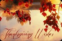 Thanksgiving email stationery. Red Leaves And Thanksgiving