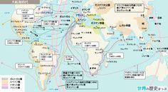 ポルトガルの植民地と貿易 1509年ディウ沖の戦いでアルメイダの率いるポルトガル船隊は、すでにインド洋全域の商業支配権を維持していたマムルーク朝の艦隊を撃破。 1510年からゴア、マラッカ、ホルムズ、アデン、コロンボを占領。