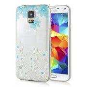 TOP-Shop   Ein Angebot von Comebuy Online Shop Diamant Embedded Thin Blue Flower TPU Schutzhülle für Samsung Galaxy S5Ihr QuickBerater