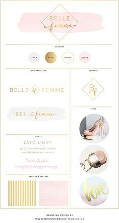 Logo Design // Branding Kit // Website Design // Belle Femme