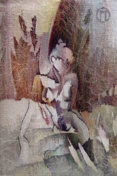 "Olga Popova Russian Tapestry Weaver Ольга Попова ""Ню"" 65х45 2005, собственность автора"