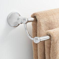 Bingham Double Towel Bar  Towels Bar And Bath Mesmerizing Bathroom Towel Bar Inspiration