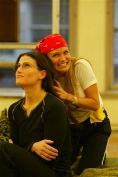 Kristin and Idina in rehearsal...such a cute picture of the two of them!
