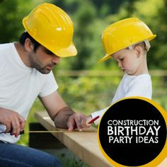 Someday Crafts: Guest Blogger - Spaceships & Laser Beams - Construction Birthday Party Ideas