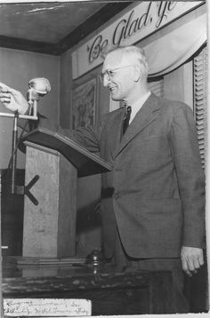 Previous Pinner: Grampa George giving a talk at the Benton Harbor Congregation 1940s (George Amundsen)
