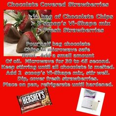 chocolate, strawberry, shake, body by vi,