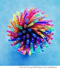 I chose this picture because it uses color, depth, and line. The colors are bright and definitely draw attention. The way the straws are placed shows depth because of the spaces between them. And the lines are curvy which makes the picture come off as very bright and cheerful.